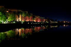 El Gouna, Red Sea, Egypt 2011: On the night (Yehia-elalaily) Tags: light red sea reflection building water architecture night michael nikon long exposure shot low tripod egypt el graves resort architect gouna manfrotto d3x