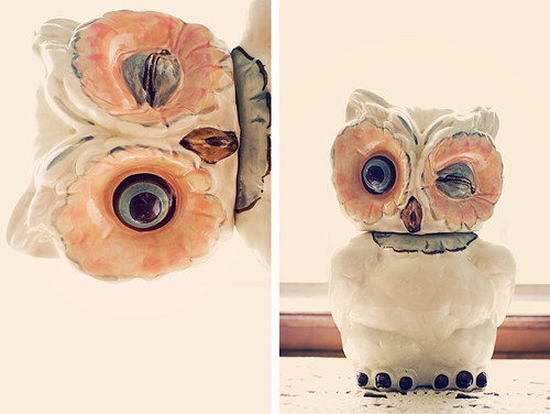 diptych: the owl cookie jar