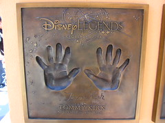 Tommy Kirk Disney Legend at the Disney Legends Plaza