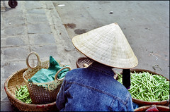 going around in circles (:lynn:) Tags: film 35mm beans market vietnam hoian denim nikonfe ektar kodakektar