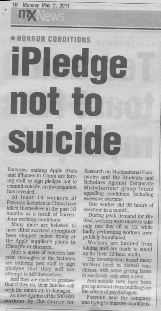 iphone suicide article mx newspaper