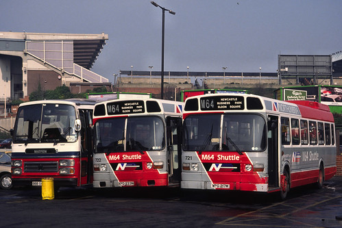 Northumbria Motor Services (Ex-London Country) Leyland Nationals 721 & 722 (WPG217M & XPD233N)