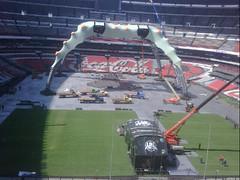 Sexto día de montaje - Estadio Azteca 41