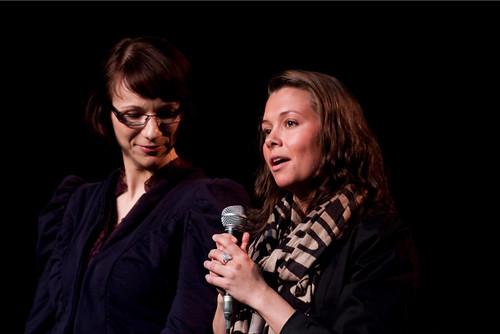 Daglig leder for Oslo Teatersenter, Stine Karin Håtuft og instruktør Joanna Magierecka.
