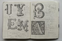 Kate Goodridge typographic notebook (The Typography Department / Central Saint Martins) Tags: notebook typography sketchbook lettering ual csm southamptonrow unit5 bagd typographystudio