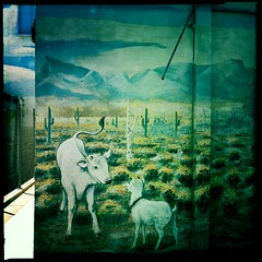 Farmer John's Slaughterhouse Mural (Detail) 02 by Jason Willis