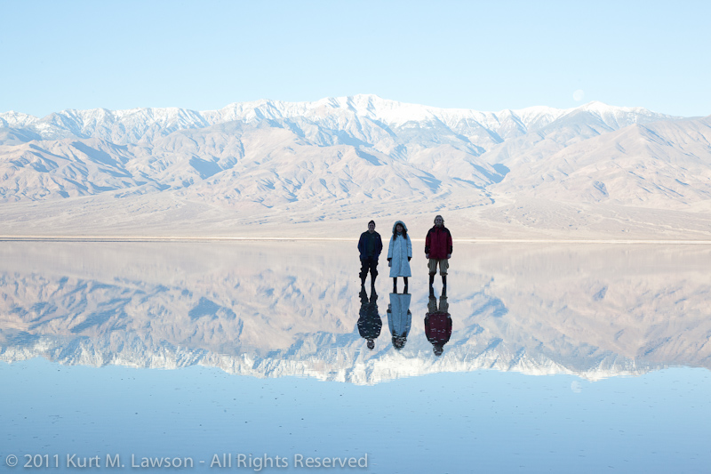 Triple Portrait at Badwater