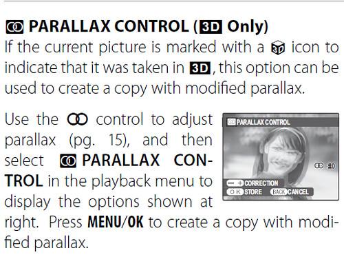 fujifilm finepix real 3d w3 parallax