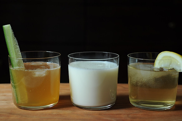 Three Seltzer Drinks