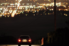 Nightlight (Nick Hutchings) Tags: city night silver nikon canyon 200 bmw f2 nikkor m3 e36 200mm d90