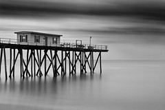 above the sea (briphi) Tags: ocean blackandwhite bw pier fineartphotography longexposer nd110