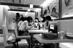 Eating (Chuponjr) Tags: people bw japan fuji fujifilm yokohama x100