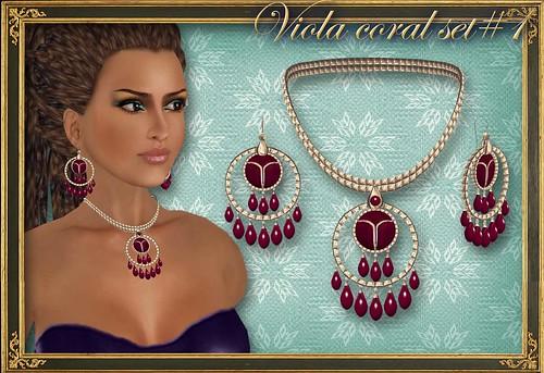 VIOLA coral set#1