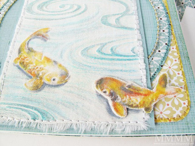 Cuttlebug Koi fabric CLOSE  mel stampz