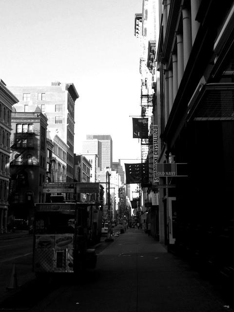 quiet morning on Broadway #walkingtoworktoday
