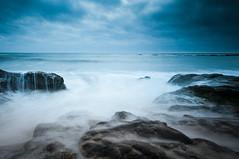 Bean Hollow (marumuchisimo) Tags: ocean sanfrancisco california longexposure sky beach water clouds landscape rocks waves tripod wide wave wideangle bayarea sigma1020mm