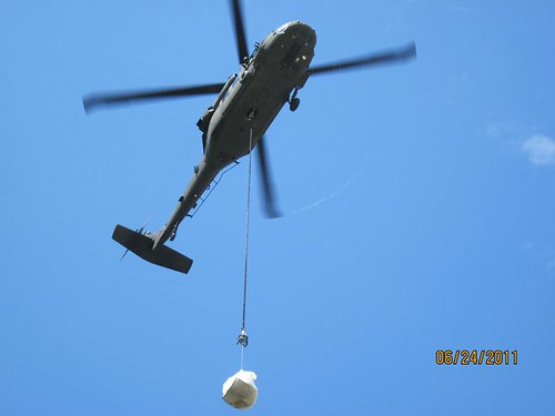 Black Hawks deliver supplies.