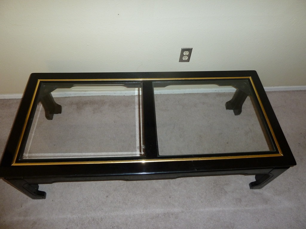 COOL BLACK LACQUER COFFEE TABLE - REDUCED!! $65