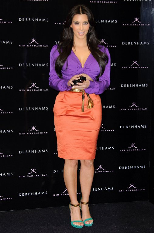 kim-kardashian-color-block-dress