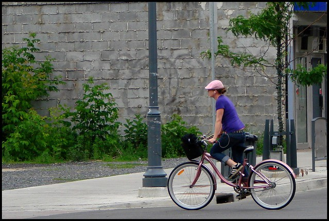 pink hat and cruiser