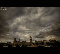 **BIG BEN AND PARLIAMENT** (~*THAT KID RICH*~) Tags: city uk bridge england tower castle clock water beautiful clouds canon buildings reflections boats big ben unitedkingdom flag parliament bigben clocktower tall hdr tkr thatkidrich archttecture