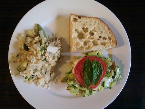 Zucchini Caprese Sandwich
