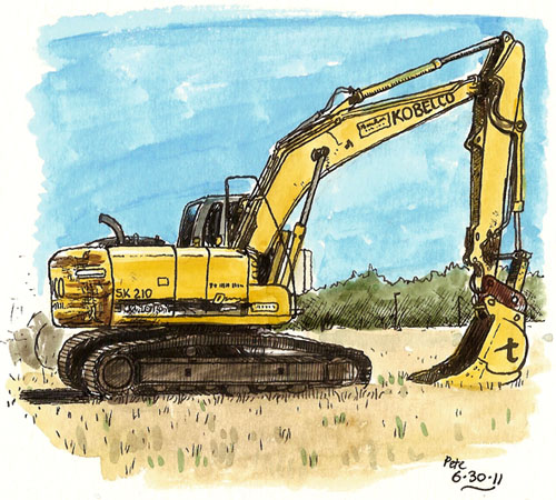 big digger on campus