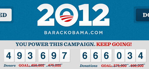 500K donors to Obama June 2011