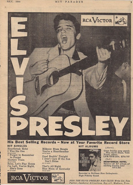 July 1956 Hit Parader Magazine (Elvis Ad)0001