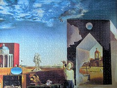 Outskirts of Paranoic Critical Town (pefkosmad) Tags: jigsaw puzzle leisure hobby pastime salvadordali outskirtsofcriticalparanoictown art painting