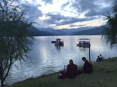 Phewa lake at sunset (albedo20) Tags: nepal pokhara public asia2016