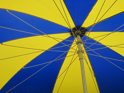Blue and Yellow Umbrella