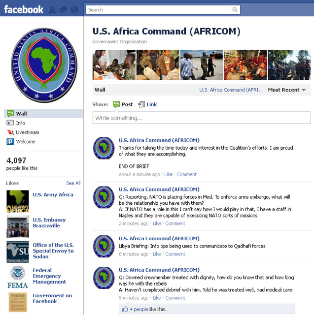 News Briefing: U.S. Africa Command on Facebook