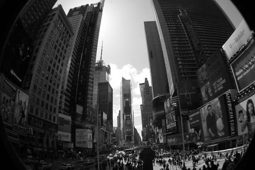 Fisheye'd Times Square by Ahlexandria