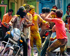 Hyderabad 091 - Holi Festival (Ben Beiske) Tags: hyderabad