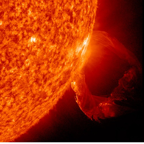 Prominence Eruption Up-Close