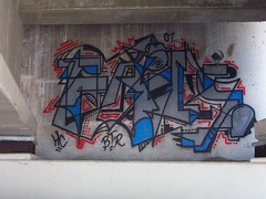 FAILS HC BTR (Reckless Artist) Tags: bridge art minnesota graffiti paint spray crew graff fails mn hc 07 2007 btr hesh colddayfun