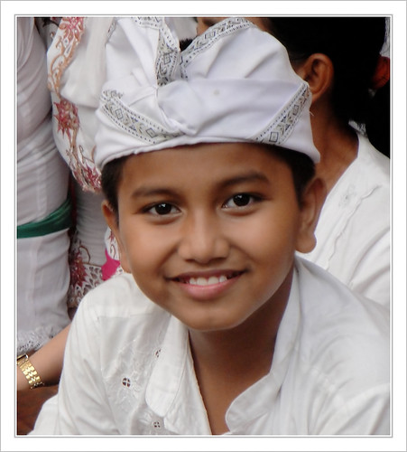 Child during wedding ceremony .