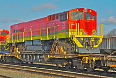 (GE) Transnet Freightrail deliveries (THE RESTLESS RAILFAN) Tags: africa red green yellow yard diesel south heavy ge load locomotives rockport flatcar freightrail transnet
