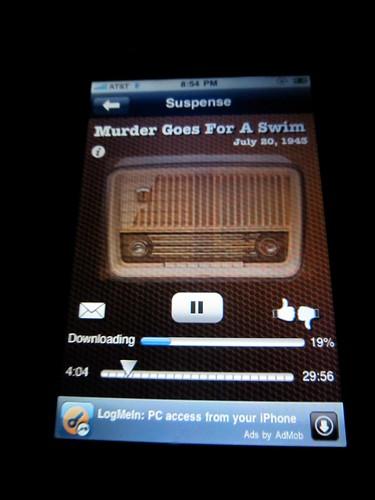 Vintage Radio App on iPhone