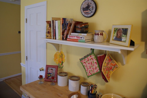 Butcher Block and Shelf