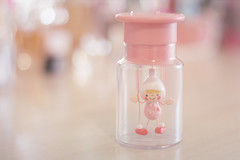 the puppet show ( iloverilakkuma ) Tags: pink cute love youth toy funny doll pretty dancing image puppet stage prince clean kawaii figure jar fleeting marionette peasant bandai pauper kinto