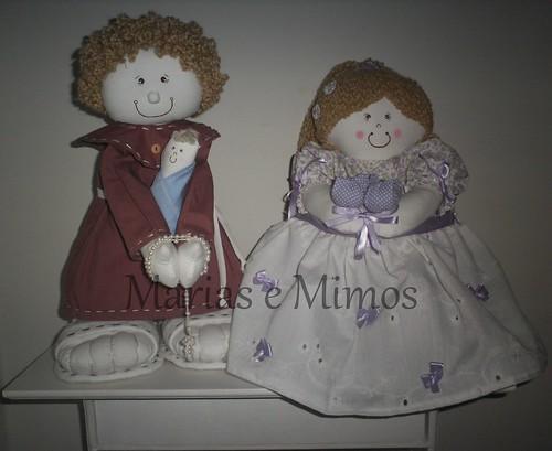 Santo Antônio e Boneca para Daminhas para Casamento by Marias e Mimos