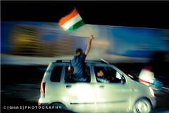 Jai Ho !!! (girish_suryawanshi) Tags: world people india men cup car photography nikon dj flag s explore celebrations gary maharashtra ho panning jai pune girish d60 suryawanshi