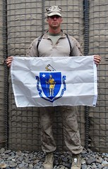 Oxford Marine proudly displays Massachusetts flag in Afghanistan
