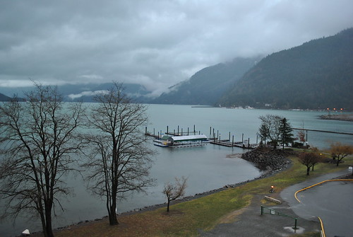 Harrison Hot Springs in the rain