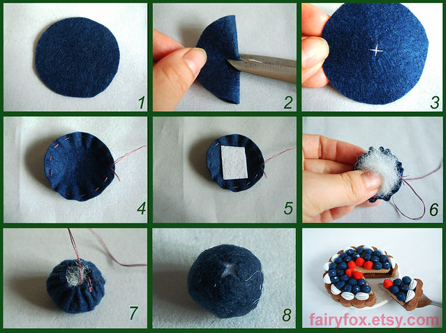 felt blueberry pattern,tutorial