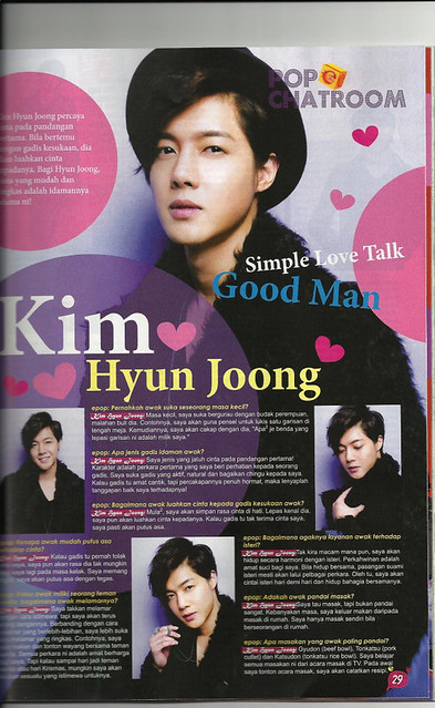 Kim Hyun Joong Epop Malaysian Magazine April 2011 Issue