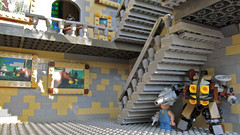 Hogwarts Under Stairs Big Daddy (Imagine) Tags: castle toy toys lego harrypotter minifig hogwarts bigdaddy bioshock playable foitsop imaginerigney