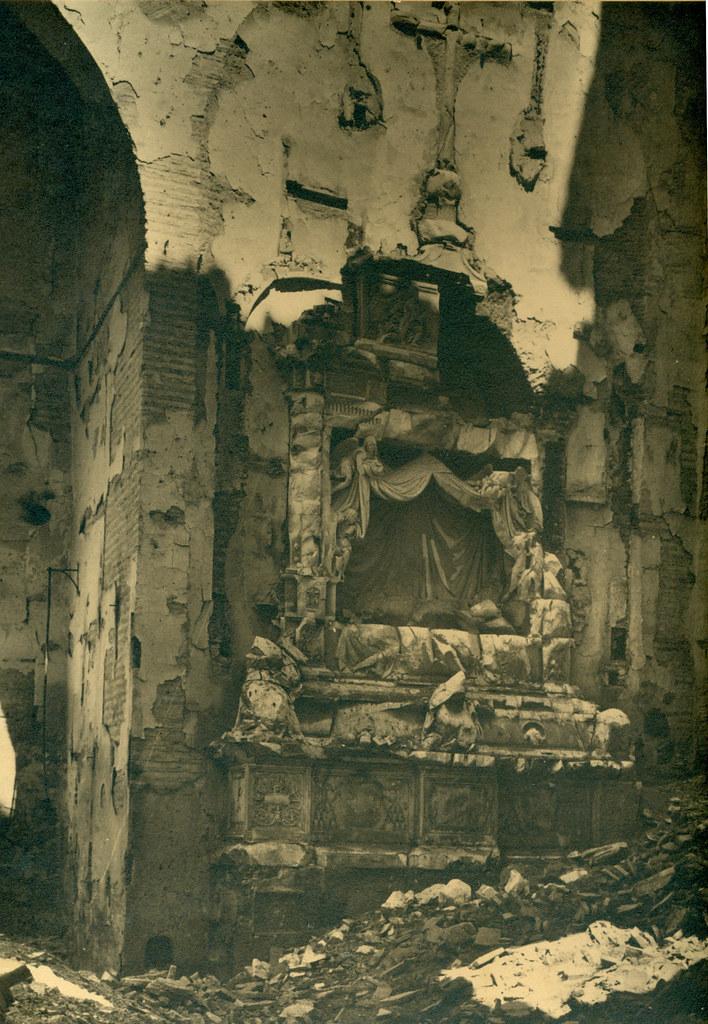Sepulcro de Fray Francisco Ruiz en el Convento de San Juan de la Penitencia destruido en la Guerra Civil. Fotografía de Pelayo Mas Castañeda. Causa de los mártires de la persecución religiosa en Toledo